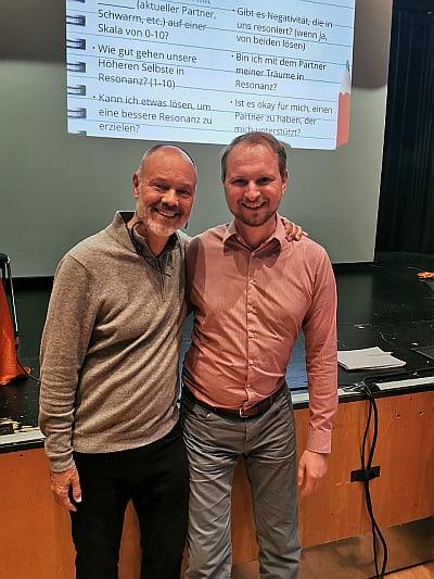Bradley Nelson und Matthias Röderstein bei Essentials of Healing im Oktober 2019 in Frankfurt/Main