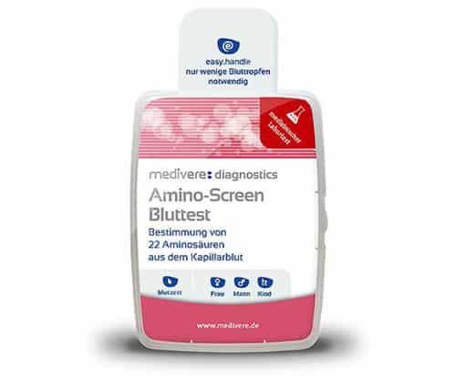 Amino-Screen Bluttest für zuhause. Das günstige Aminogramm von Labor medivere diagnostics.