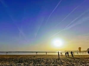 Strand bei Sonnenuntergang, Matosinhos, Porto