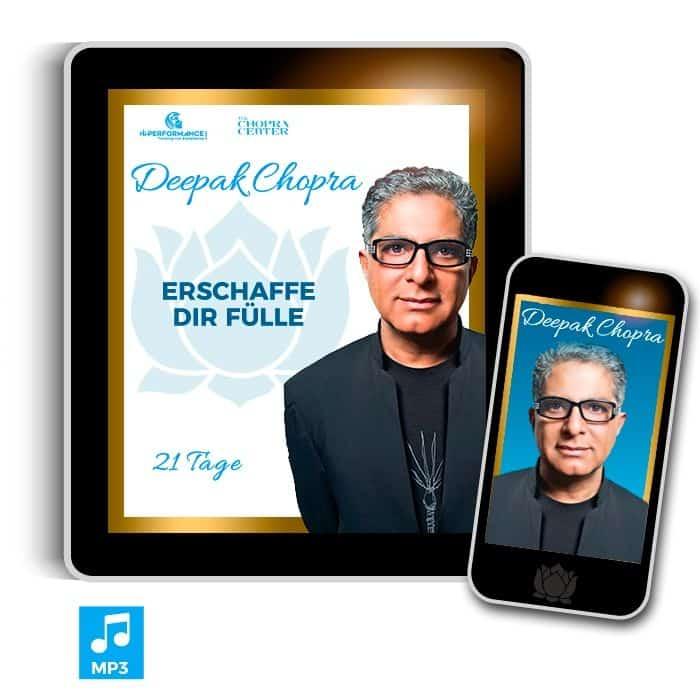 """Deepak Chopra 21 Tage Meditation """"Erschaffe Dir Fülle und Reichtum"""" MP3 WhatsApp"""