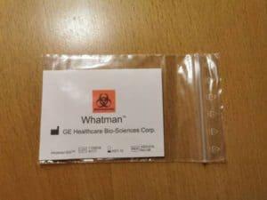 Die Protein Saver Card von hinten.