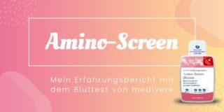 Amino-Screen-Bluttest von medivere. 22 Aminosäuren inkl. Taurin